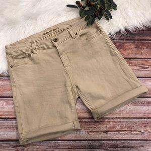 Michael Kors Tan Jean Denim Bermuda Shorts